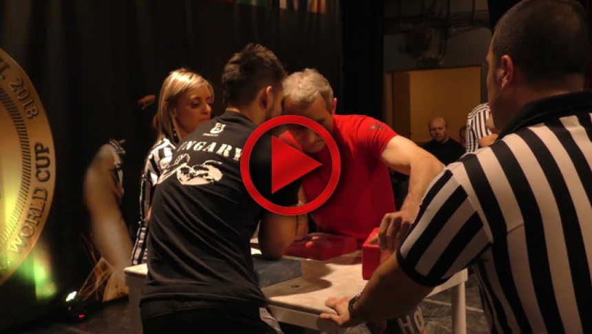 KOGL-ZSOLT Senec Hand 2018 SENIOR MEN RIGHT 75kg # # Armbets.tv